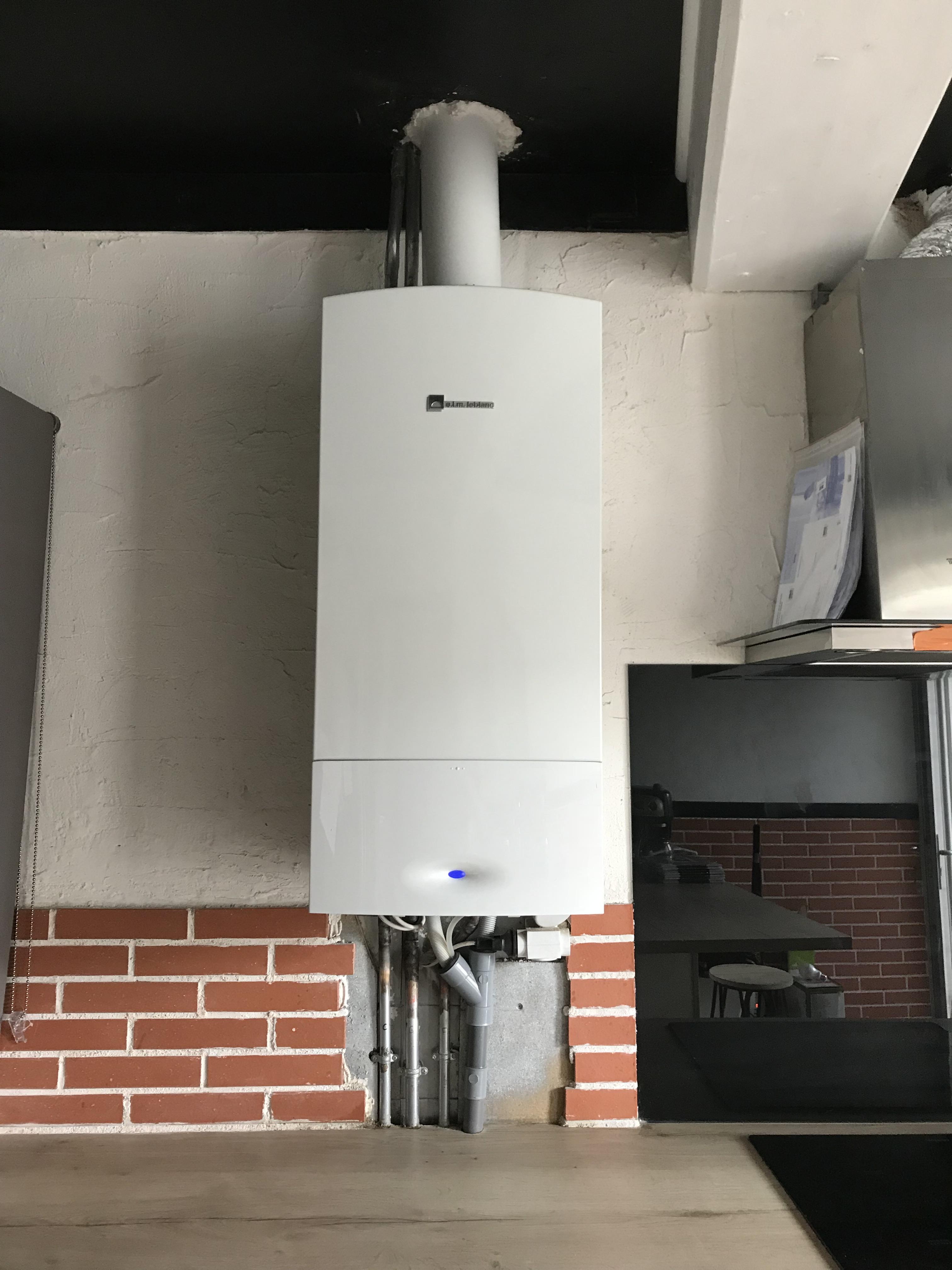 Chaudière condensation gaz après